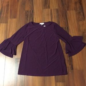 Boutique bell sleeve top